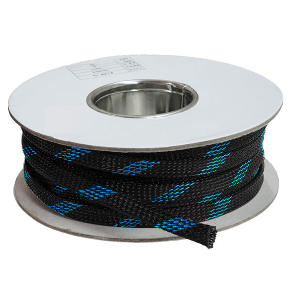28 mm Preto/Azul - Malha Náutica Expansiva (25m)