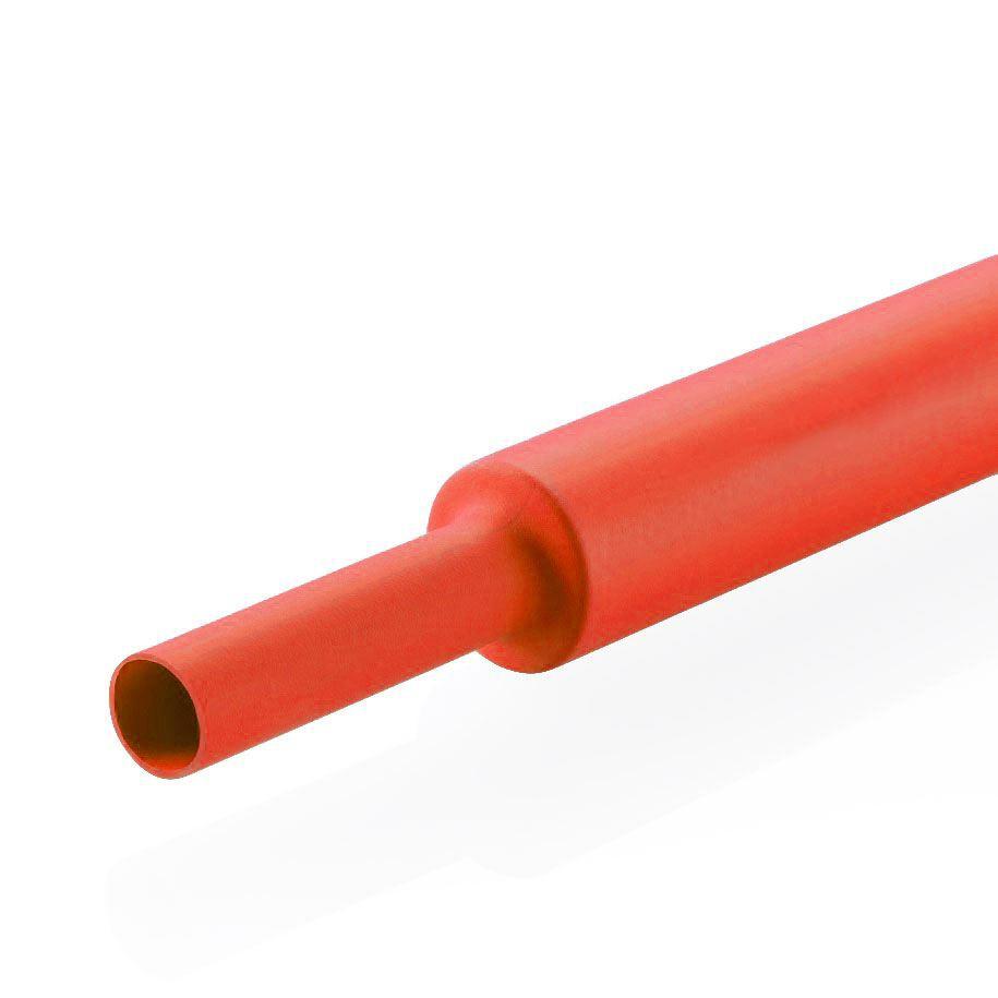 2,4 mm Vermelho Termo Retrátil Padrão (1m)