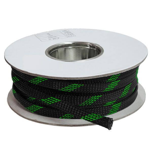 3 mm Preto/verde - Malha Náutica Expansiva (25m)