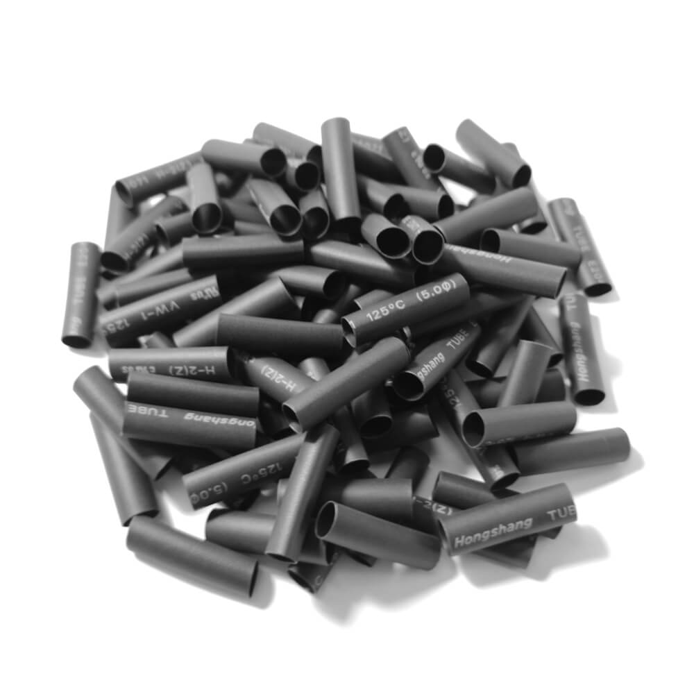 5,0 mm x 23 mm Preto Gravado Termo Retrátil (50 peças)
