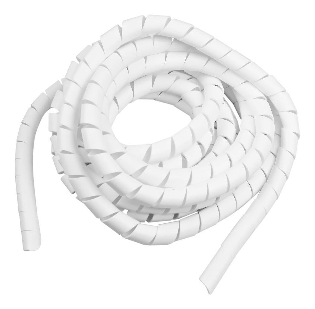 9,5 mm (3/8 pol) Branco Espiral Organizador Cabos (1m)