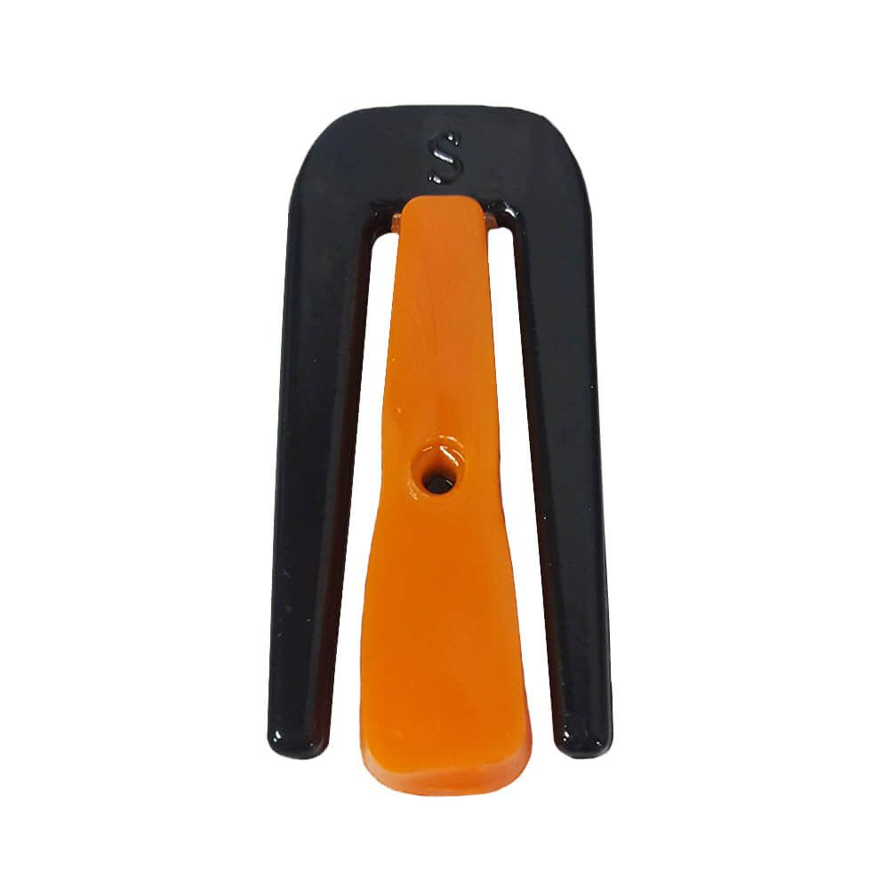 Clip metálico para vedação caixa de fibra óptica - 28 x 65mm