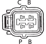 SENSOR DE OXIGÊNIO (SONDA LÂMBDA) - FINGER PRÉ 13 OHMS Conector fêmea 4 FIOS 60CM HONDA CIVIC 1.4 16V (GASOLINA) 01/06 KLAUS DRIFT