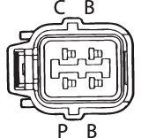 SENSOR DE OXIGÊNIO (SONDA LÂMBDA) - FINGER PRÉ 13 OHMS Conector fêmea 4 FIOS 60CM HONDA CIVIC 1.6 - 16V (GASOLINA) 01/06 KLAUS DRIFT