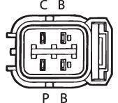 SENSOR DE OXIGÊNIO (SONDA LÂMBDA) - FINGER PRÉ 13 OHMS Conector macho 4 FIOS 60CM HONDA CIVIC 1.6 - 16V (GASOLINA) 01/06 KLAUS DRIFT