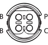 SENSOR DE OXIGÊNIO (SONDA LÂMBDA) - FINGER PRÉ  4 FIOS 42CM BMW 320I (GAS.) 00/05 KLAUS DRIFT