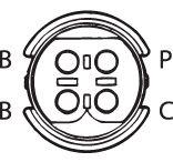 SENSOR DE OXIGÊNIO (SONDA LÂMBDA) - FINGER PRÉ  4 FIOS 42CM BMW Z3 2.8 (GAS.) 98/00 KLAUS DRIFT