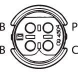 SENSOR DE OXIGÊNIO (SONDA LÂMBDA) - FINGER PRÉ  4 FIOS 50CM MERCEDES-BENZ 740I, 740I/L - 4OILL 4.0I 94/96 KLAUS DRIFT