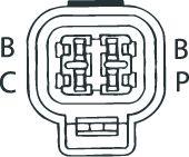 SENSOR DE OXIGÊNIO (SONDA LÂMBDA) - FINGER PRÉ Conector Quadrado 4 FIOS 60CM MITSUBISHI COLT 1.8I 91/95 KLAUS DRIFT