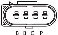 SENSOR DE OXIGÊNIO (SONDA LÂMBDA) PLANAR PRÉ  4 FIOS 120CM VOLKSWAGEN PARATI G4 - 1.0 8V EA111 (FLEX) 05/08 KLAUS DRIFT