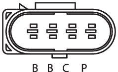 SENSOR DE OXIGÊNIO (SONDA LÂMBDA) PLANAR PRÉ  4 FIOS 45CM VOLKSWAGEN GOLF 2.0 - 8V (GASOLINA) 02/07 KLAUS DRIFT
