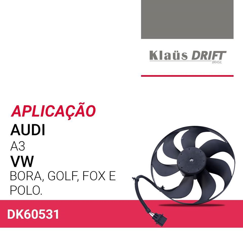 VENTOINHA ELETROVENTILADOR AUDI A3 1.8 / 2.0 1999 A 2005 KLAUS DRIFT