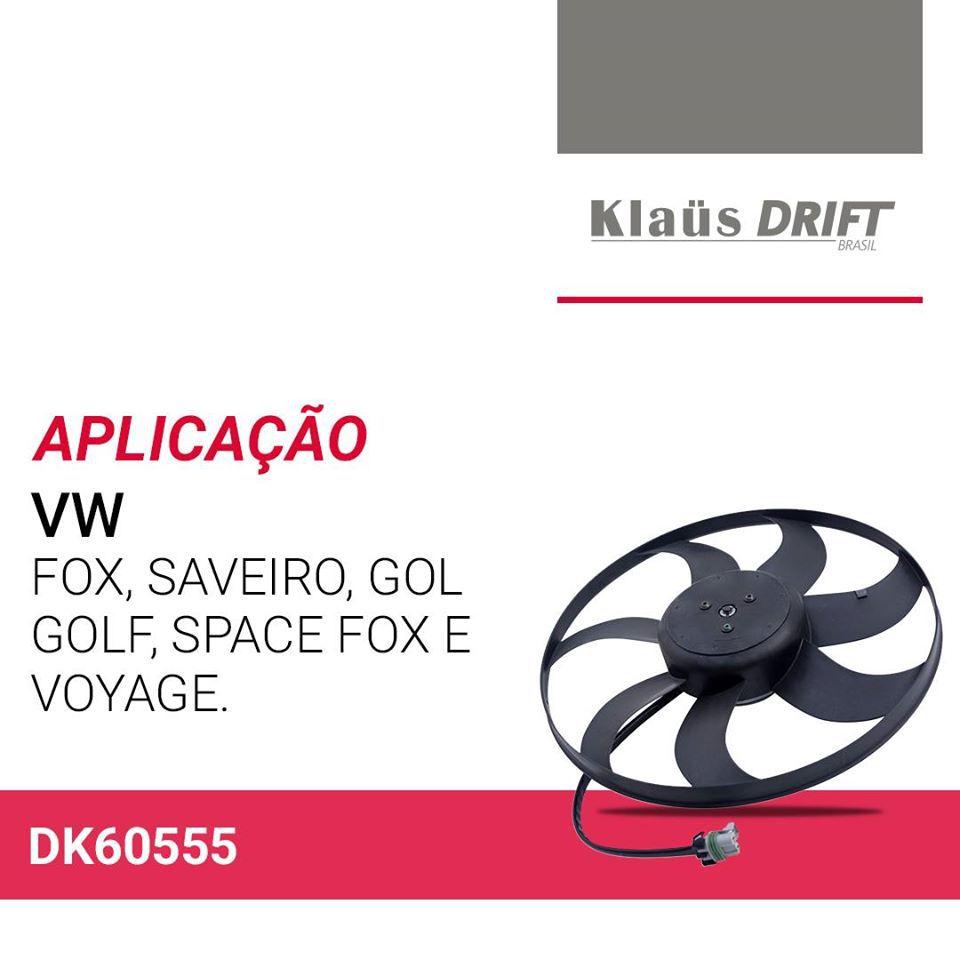 VENTOINHA ELETROVENTILADOR VOLKSWAGEN SAVEIRO G5 1.0 1.6 COM AR) 2009 DIANTE KLAUS DRIFT