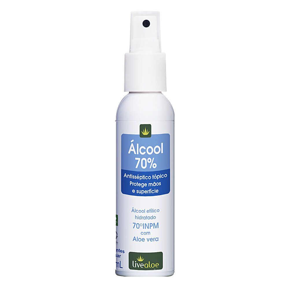 Álcool 70% 100mL Live Aloe