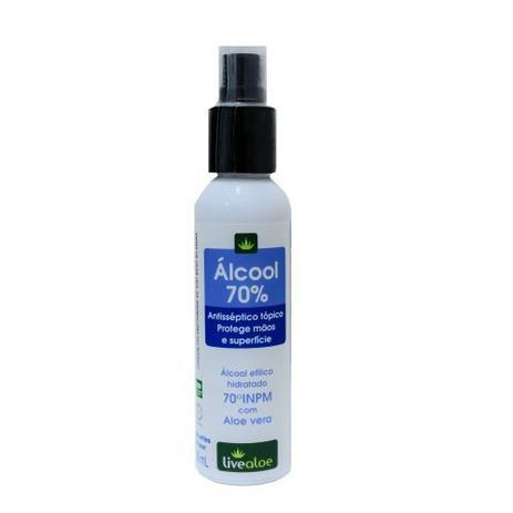 Álcool 70% 100mL Live Aloe