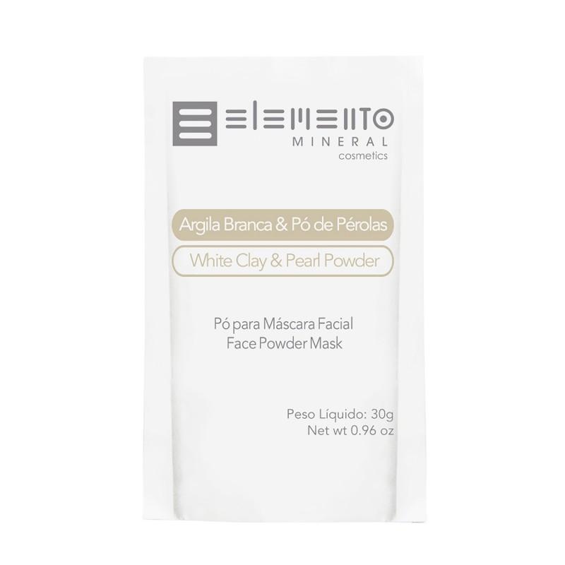 Argila Branca c/ pó de pérolas 30g Elemento Mineral