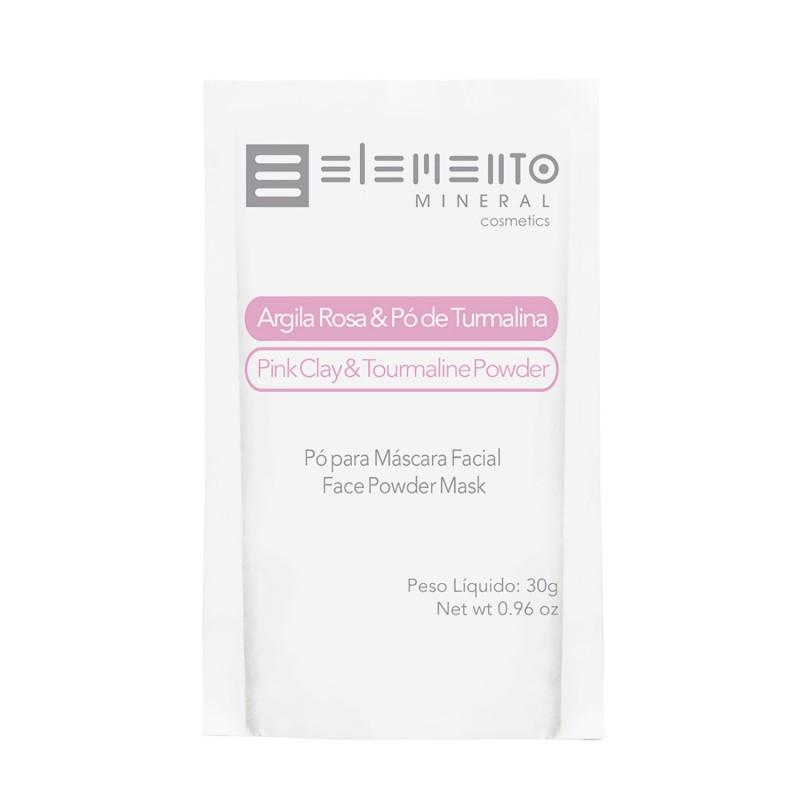 Argila Rosa c/ pó de Turmalina Rosa 30g Elemento Mineral