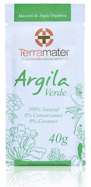 Argila Verde Sachê 40g Terramater