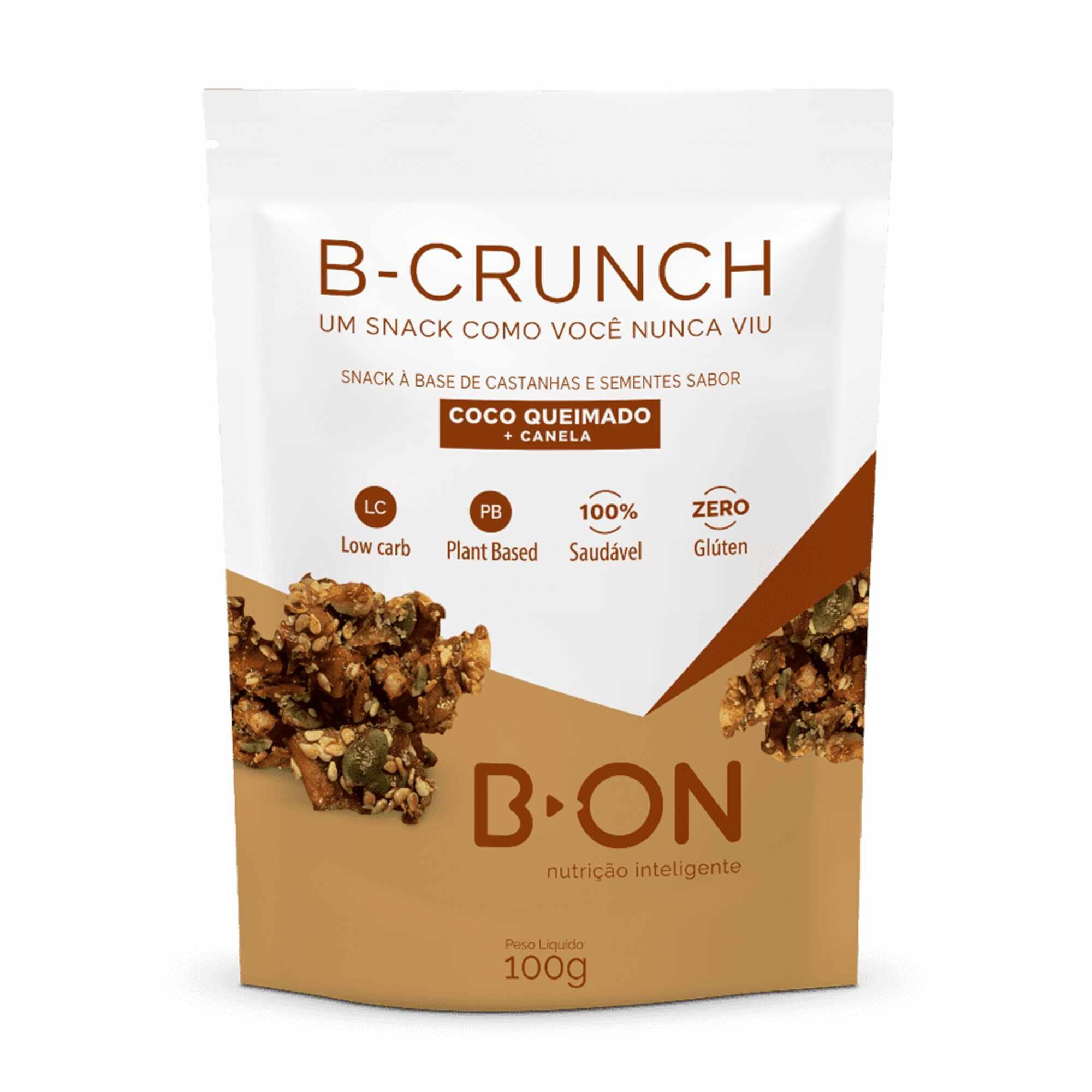 B-Crunch Coco Queimado e Canela 100g B-On