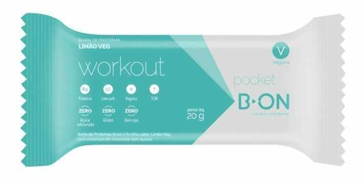 Barra Workout Pocket Limão 20g B-On