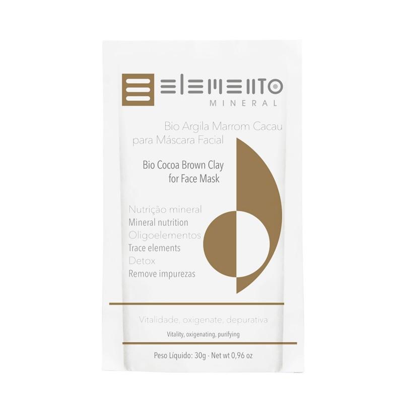 Bio Argila Marrom Cacau 30g Elemento Mineral
