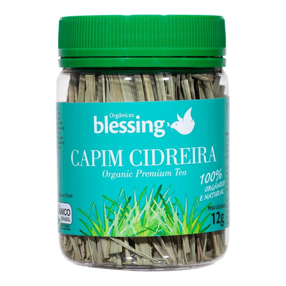 Chá Capim Cidreira Orgânico 12g Blessing