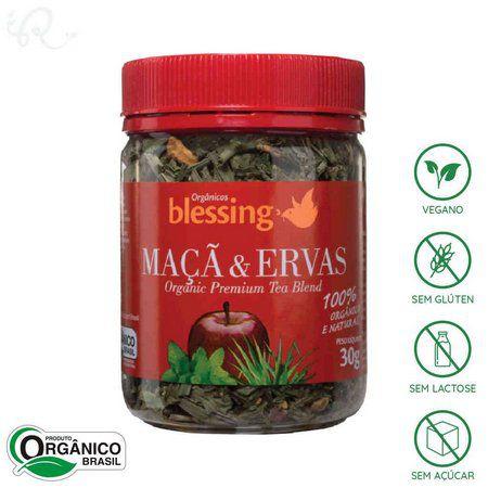 Chá Maca Erva Cidreira Orgânico 30g Blessing
