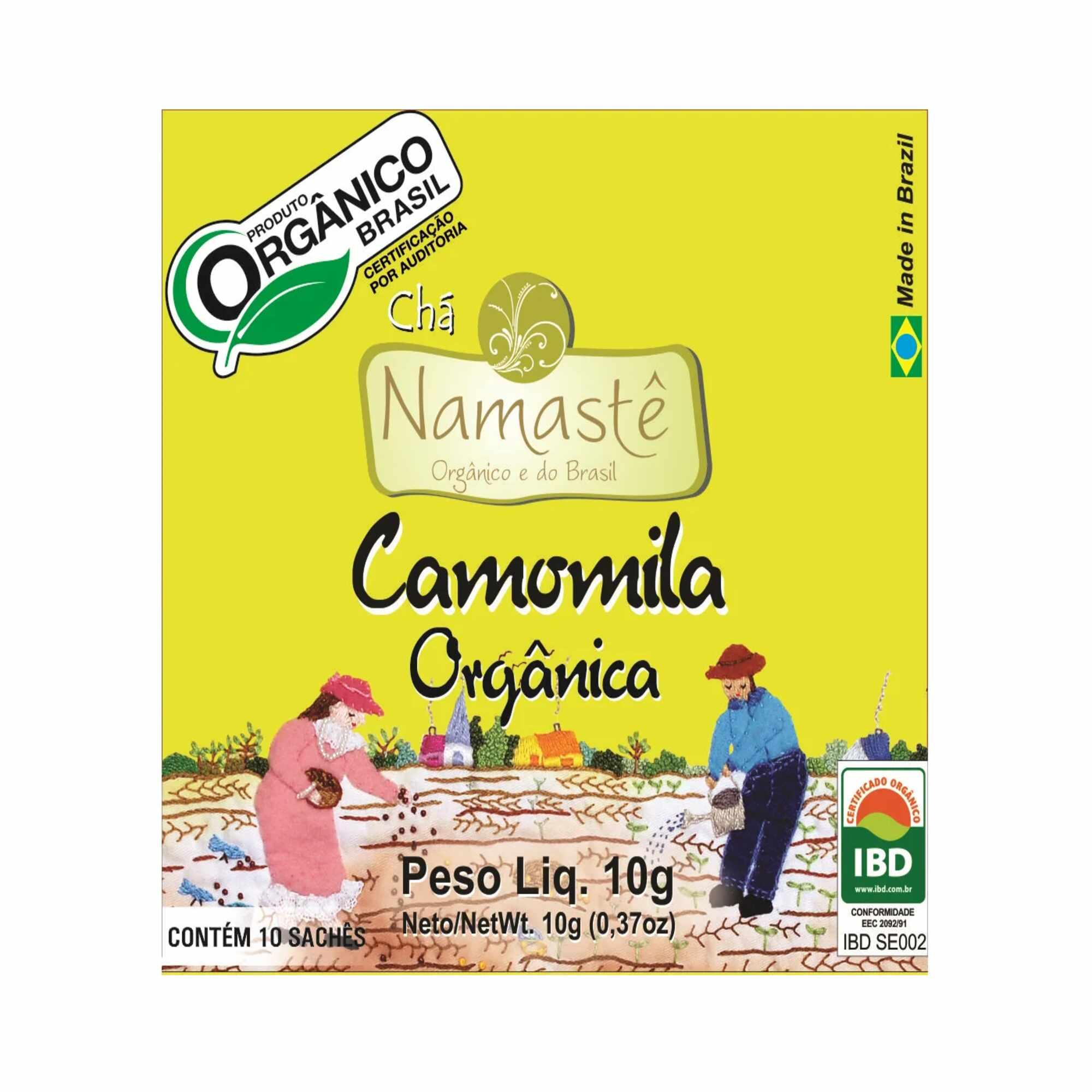 Chá Orgânico Camomila 10 sachês Namastê