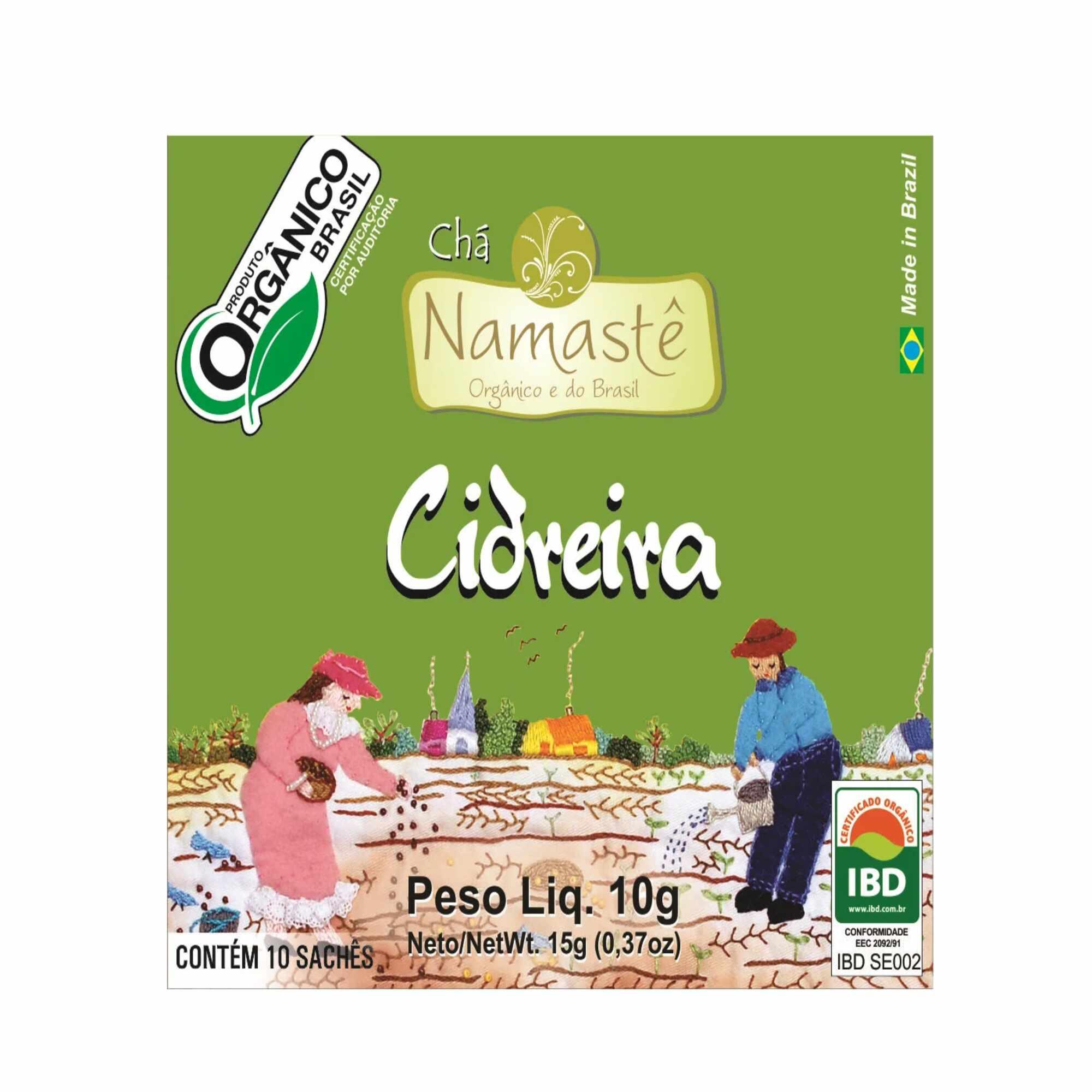 Chá Orgânico Cidreira 10 sachês Namastê