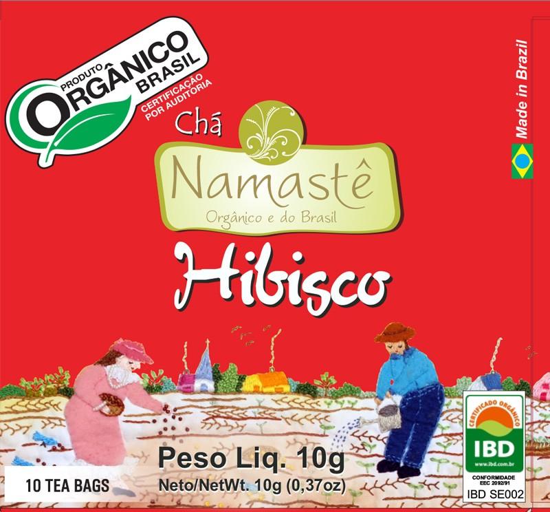 Chá Orgânico Hibiscus 10 sachês Namastê