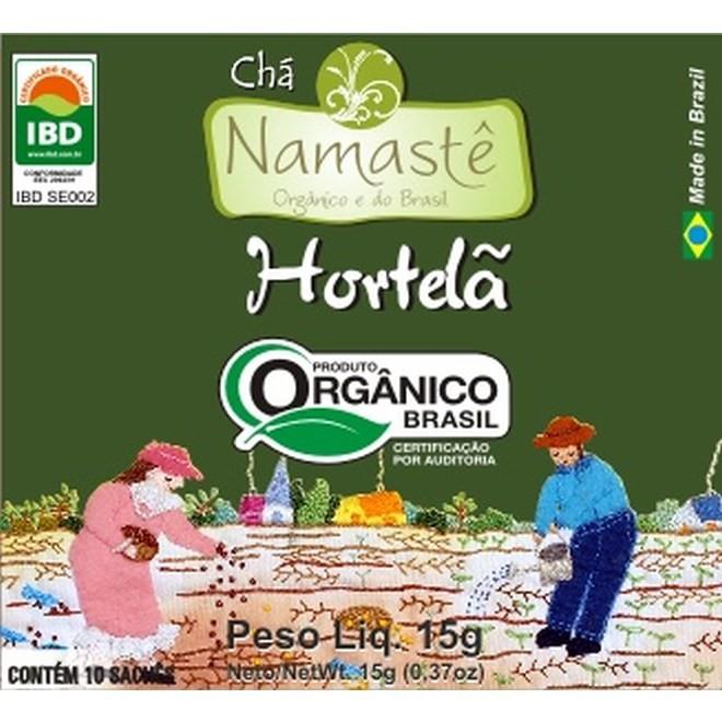 Chá Orgânico Hortelã 10 sachês Namastê