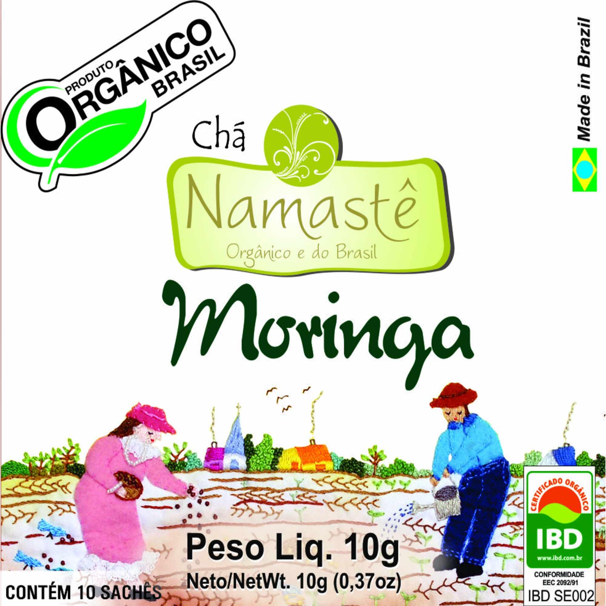 Chá Orgânico Moringa 10 sachês Namastê