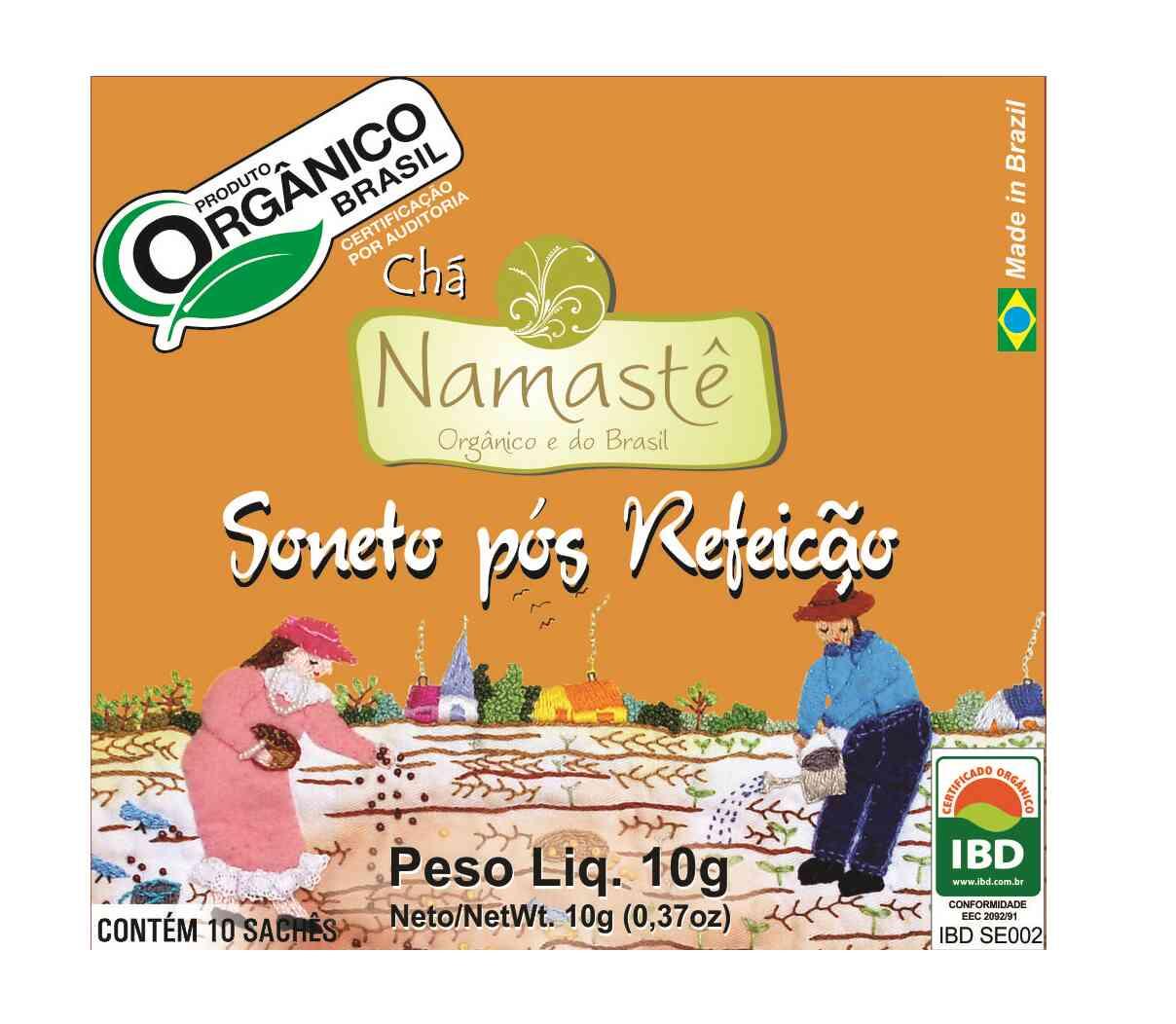 Chá Orgânico Pós Refeição 10 sachês Namastê