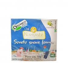 Chá Orgânico Soneto Forma 10 sachês Namastê