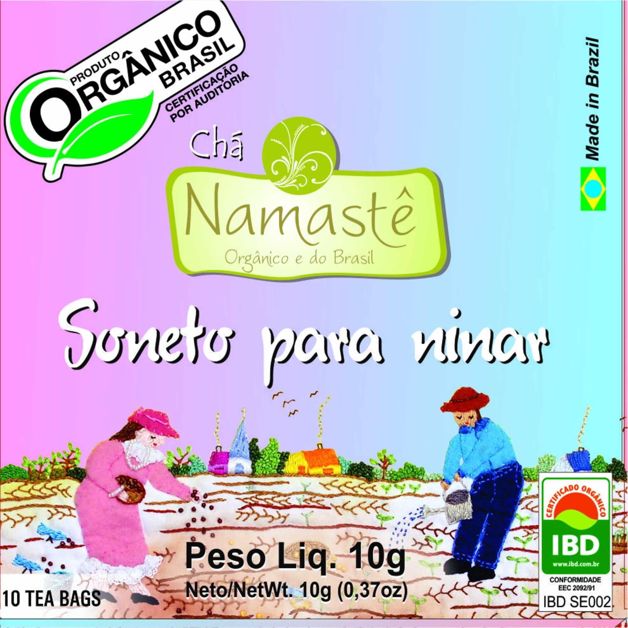 Chá Orgânico Soneto Ninar 10 sachês Namastê
