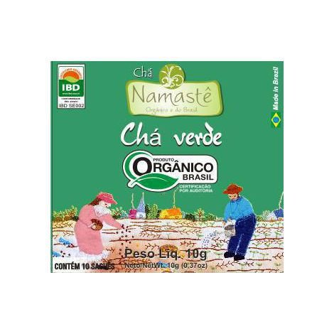 Chá Verde Orgânico 10 sachês Namastê