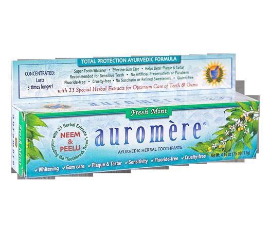 Creme Dental Natural Foam Free Auromère 117g