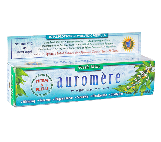 Creme Dental Natural Fresh Mint Auromère 117g