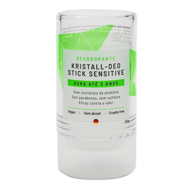 Desodorante Stick Kristall Sensitive 120g Alva