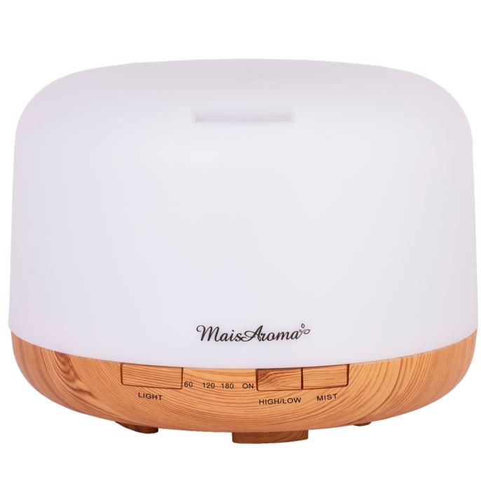 Difusor de Aromas Mod. H02 500mL Mais Aroma Madeira Claro