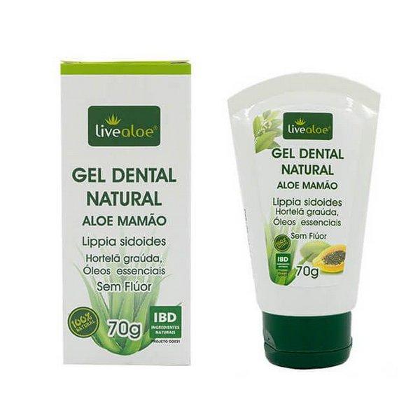 Gel Dental Natural Aloe Mamão 70g Live Aloe