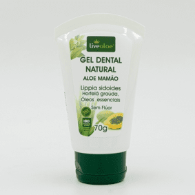 Gel Dental Natural Aloe Mamão 70g Live Aloe
