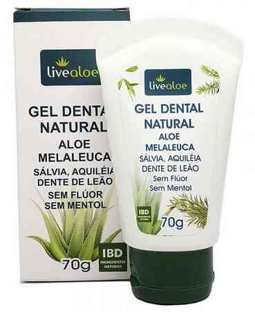 Gel Dental Natural Aloe Melaleuca 70g Live Aloe