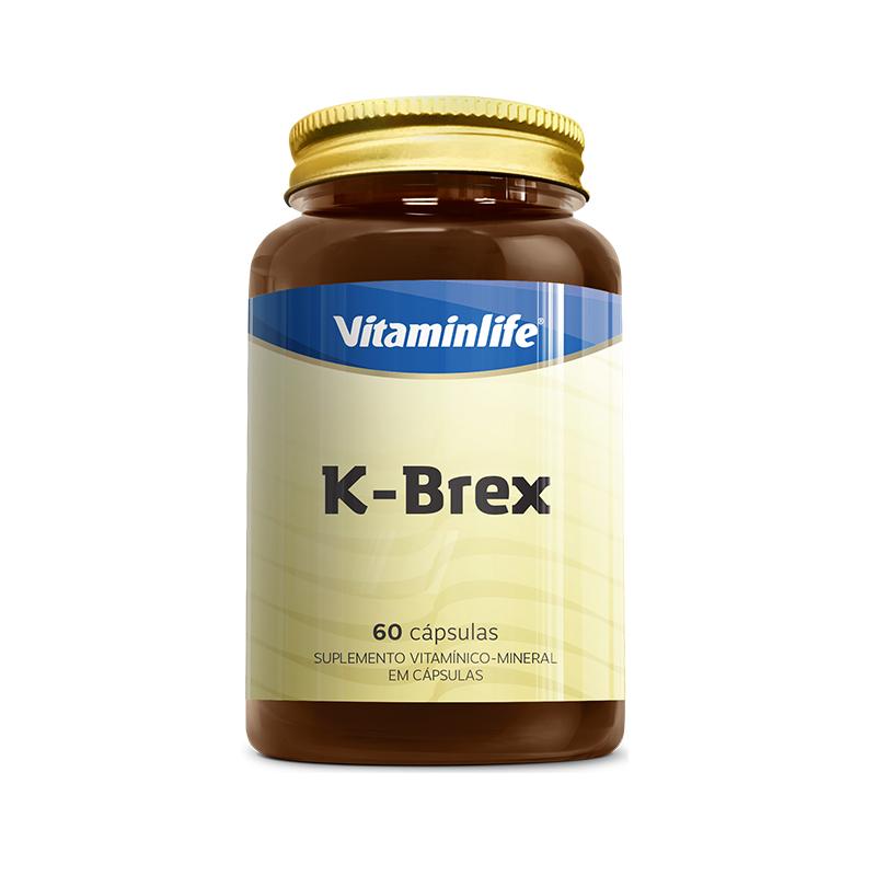 K Brex c/ Potássio  60 Cápsulas  Vitamin Life