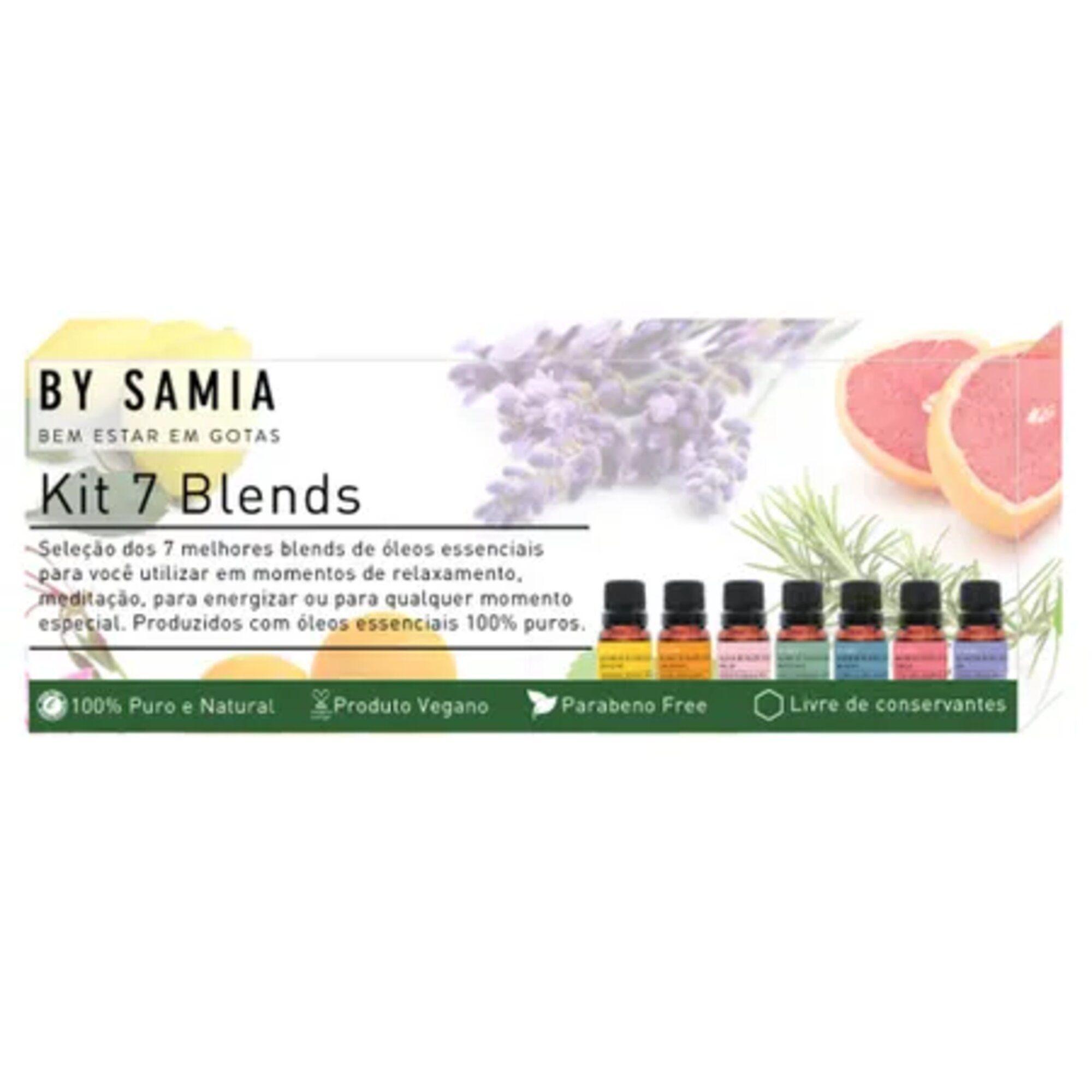 Kit 7 Blends Óleos essências By Samia