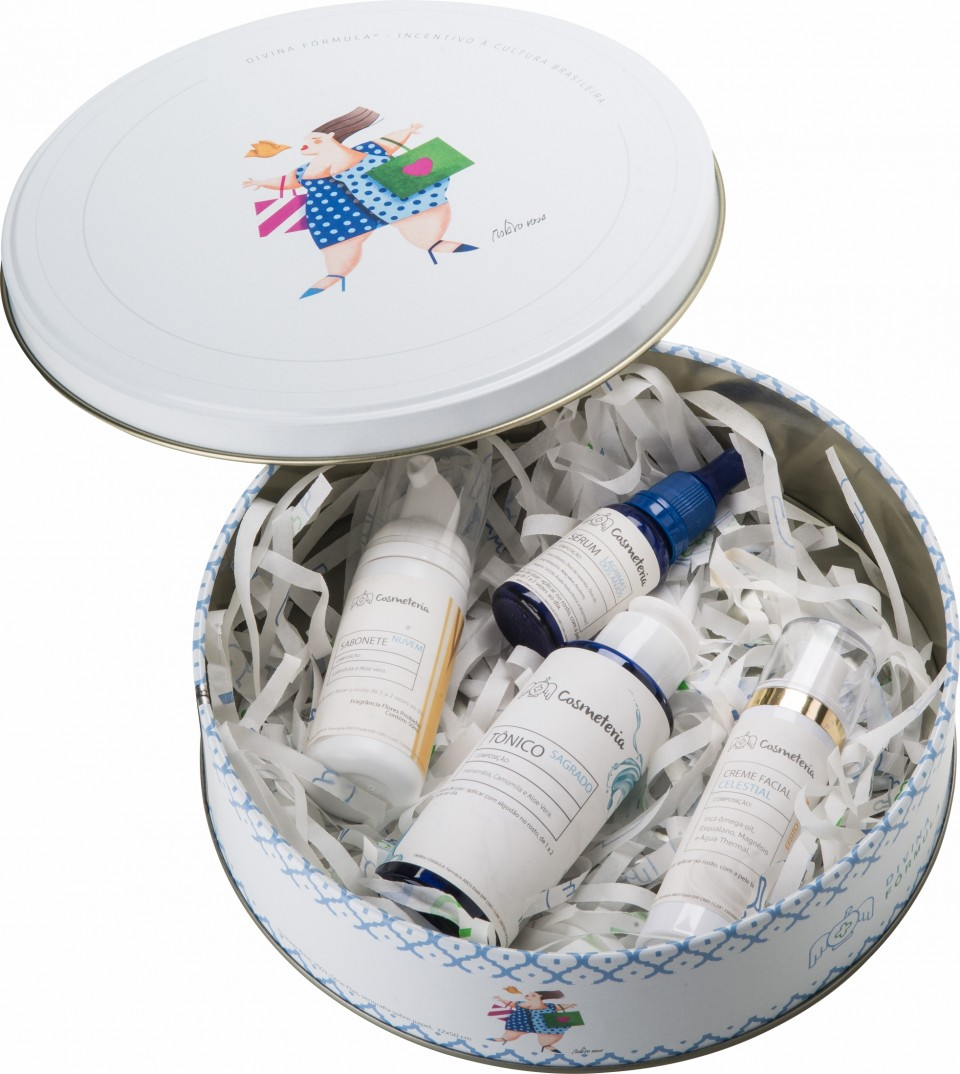 Kit Facial Cosmeteria + Lata Gustavo Rosa