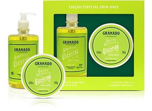 Kit Glicerina Erva Doce Premium Granado