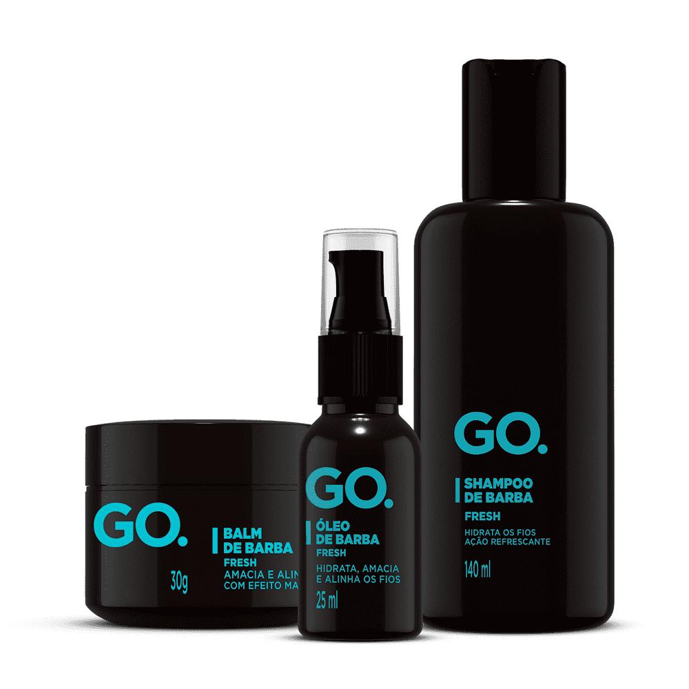 Kit Óleo de Barba + Shampoo de Barba Go