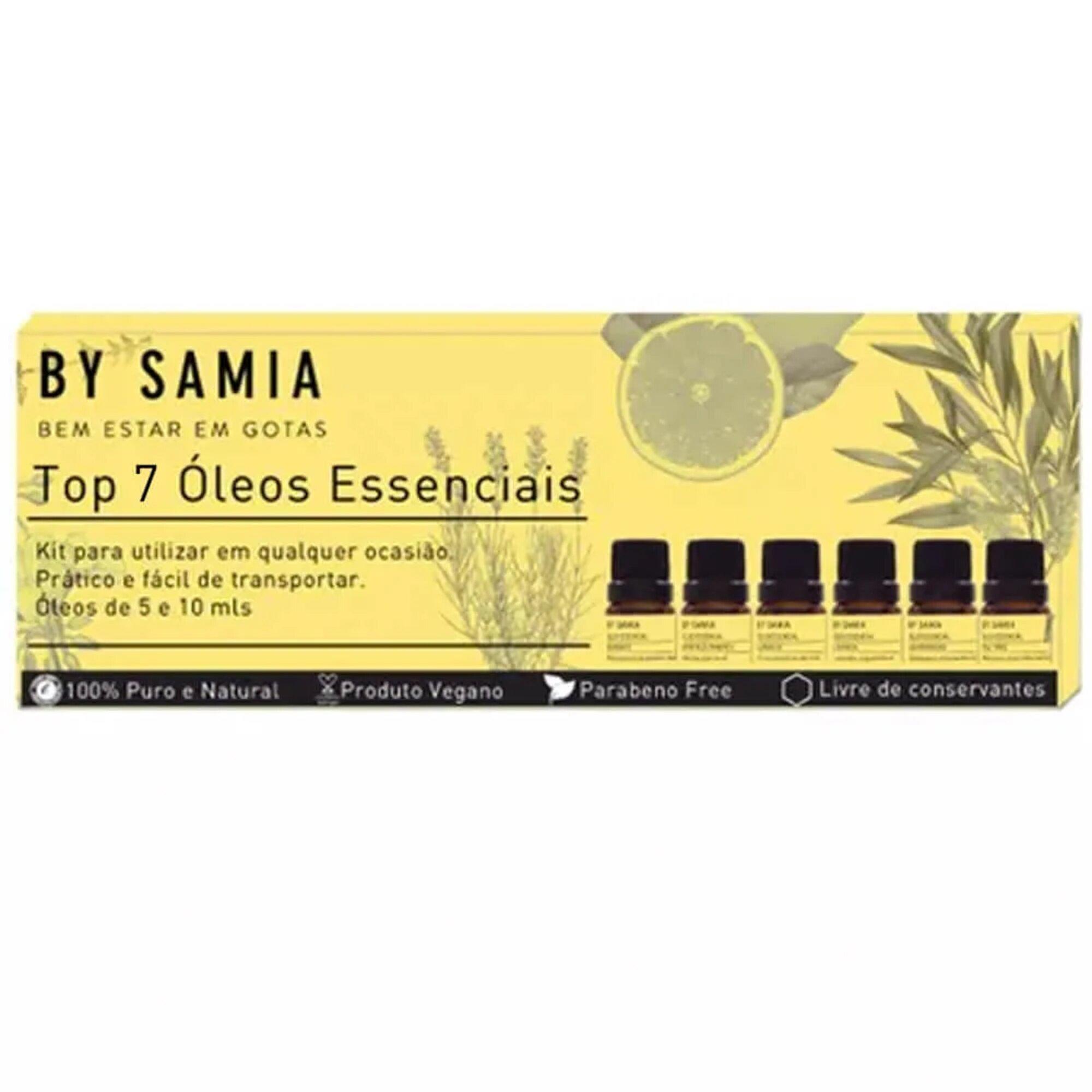 Kit Top 7 Óleos Essenciais By Samia