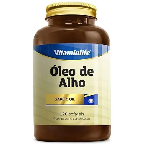Óleo de Alho 250 mg  120 Cápsulas  Vitamin Life